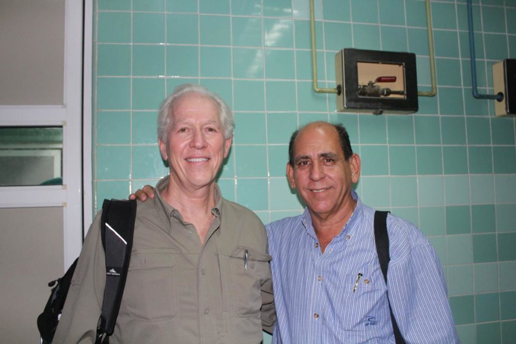 Dr. Larry Nichter and Dr. Leonardo Atienza-Lois at the hospital in Cienfuegos.